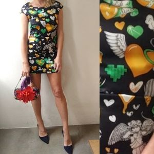 Love Moschino heart print Valentines dress 2/4